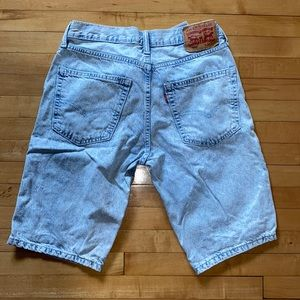 2/$40 Levi's 502 Acid Wash Denim Shorts
